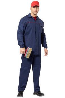 """Хлопковый рабочий костюм """"Труд"""" с брюками. Спецодежда в Самаре."""