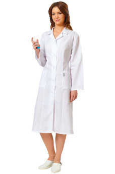 Халат с рельефами белый медицинский