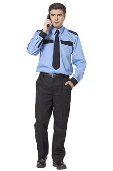 Рубашка охранника с длинным рукавом.