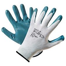 Перчатки нейлоновые с нитрилом