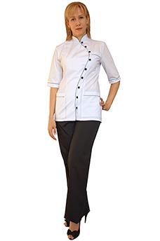 Костюм Японка белый с черыми брюками