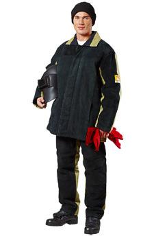 Утепленный костюм сварщика комбинированный.