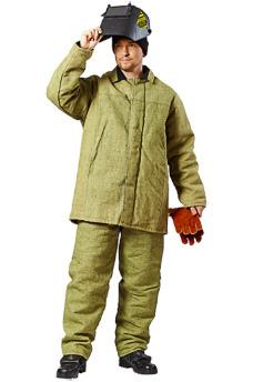 Зимний брезентовый костюм сварщика - спецодежда.