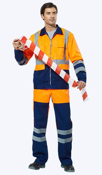 """Сигнальный костюм """"Автобан"""" дорожных служб. Спецодежда в Самаре."""