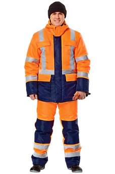 Теплые костюмы для дорожных служб. Спецодежда в Самаре.