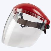Защита лица и головы с ударопрочными экранами из полистирола.