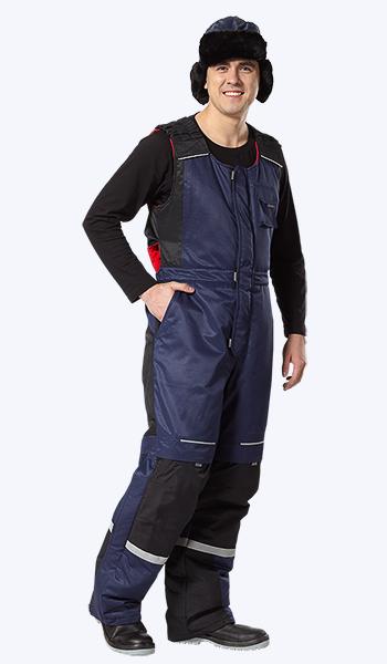 Очень теплый рабочий костюм с полукомбинезоном.
