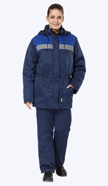 """Женская утепленная куртка """"Бригадир"""" в магазине спецодежды."""