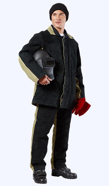 Спилковый зимний костюм сварщика в Самаре по низким ценам.