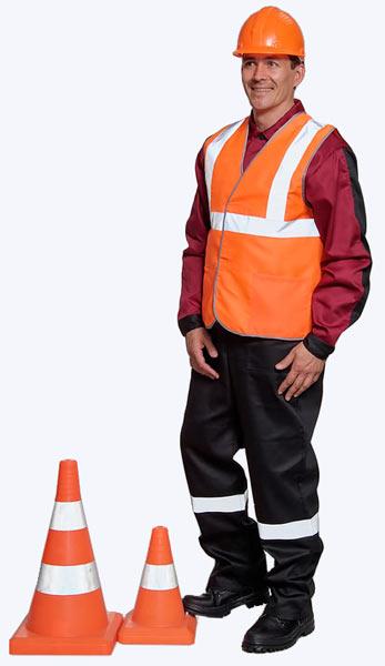 Купить оранжевый сигнальный жилет в Самаре. Магазин рабочей одежды.