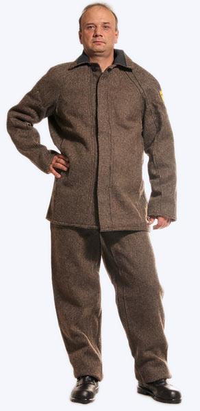 Суконный жаростойкий костюм с огнеупорной пропиткой. Спецодежда Самары.