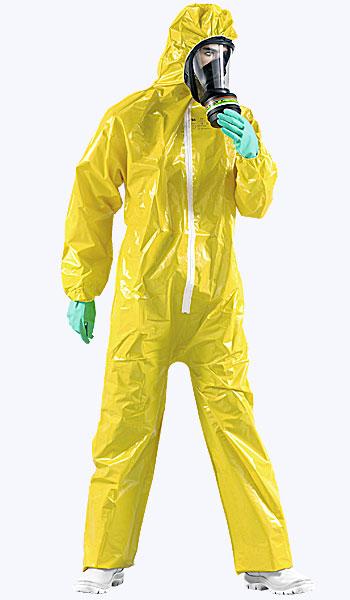 Купить в магазине спецодежды комбинезон от брызг химических веществ.
