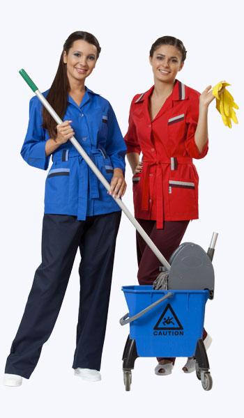 В магазине спецодежды в Самаре можно купить костюмы для уборщиц.