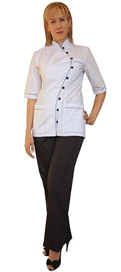 Костюм-Японка-белый-с-черыми-брюками1